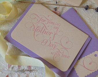 Mother's Day Letterpress card (153)