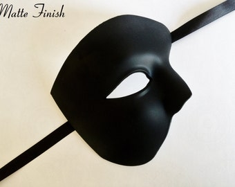 Phantom Of The Opera Mens Masquerade Mask for Balls and Parties