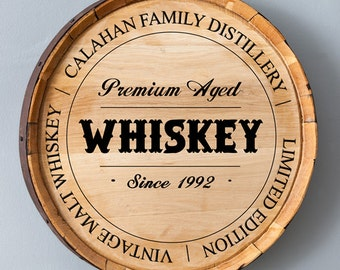 Personalized Whiskey Barrel Home Decor Signs