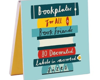 Book Friends Book of Labels - sticker book, reading, stickers, library, bookplates, ink bottle, colourful