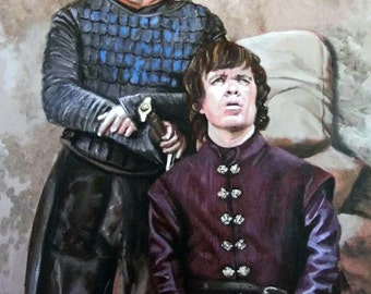 Game of Thrones - large Limited Edition artist print of Game of Thrones - Tyrion & Bronn