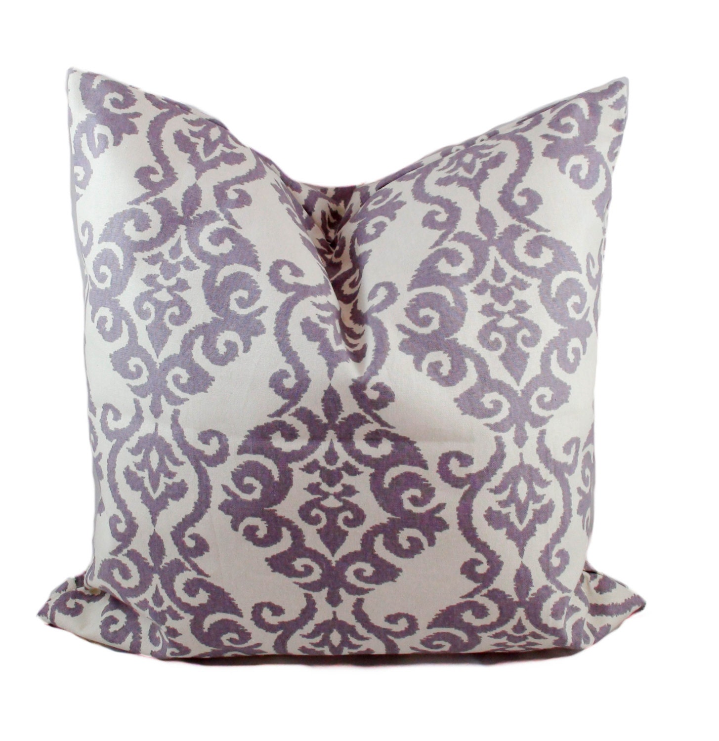 Purple And White Decorative Pillows : Purple pillow cover Purple throw pillow Decorative pillows