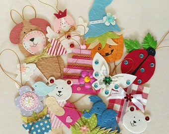 Set of Paper Gift Tags - 10 Pieces Handmade Mulberry Paper tags