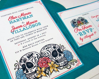 DOS CALAVERAS Wedding Invitations