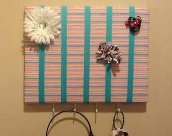 Organizer for bows, barrettes, and headbands