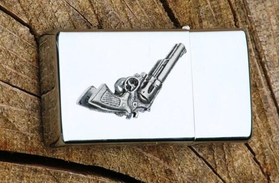 Pistolet revolver essence grav e briquet cadeau personnalis - Pistolet a essence ...