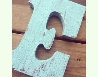 Wooden letter 6 inch