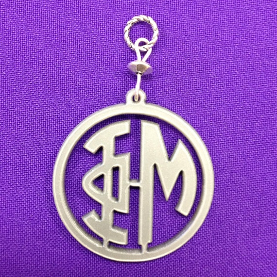 Items similar to phi mu acrylic greek letter monogram for Sorority necklaces letters