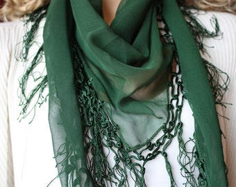 Emerald Green  Shawl, Scarf, Women Fashion Accessories