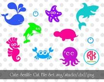 Big Seal Life Cut Files Set .PNG, .DXF,.SVG