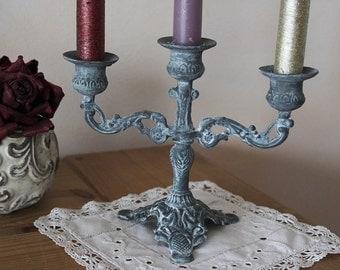 Patina old candlestick - Shabby - romantic - Gustavian