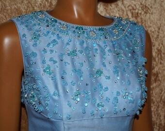 50s Vintage Taffeta Dress Bolero Costume Babyblue
