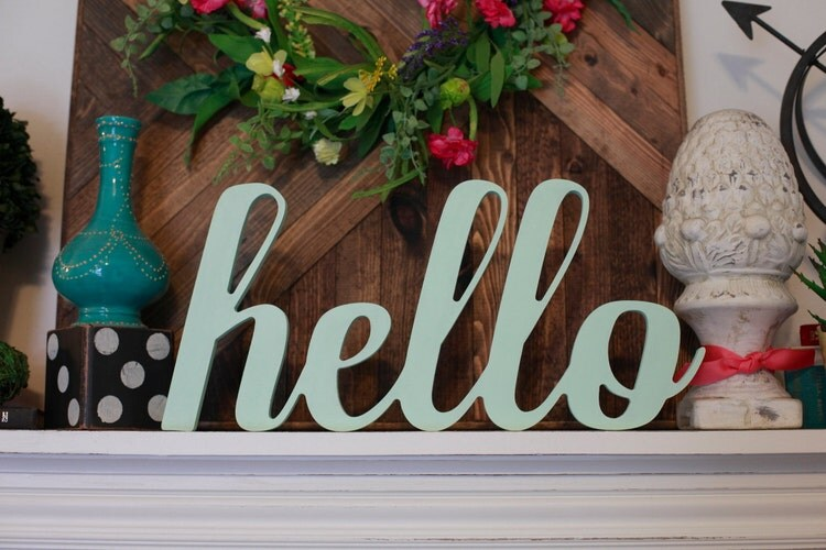 Hello Wood Mdf Word Cutout Scroll Cut Word Hello By