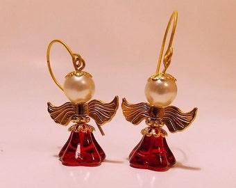 Angel Earrings, pierced