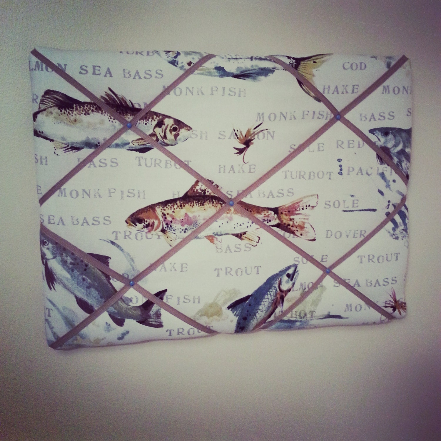 Fly fishing fish fathers day gift fabric by for Fly fishing gifts