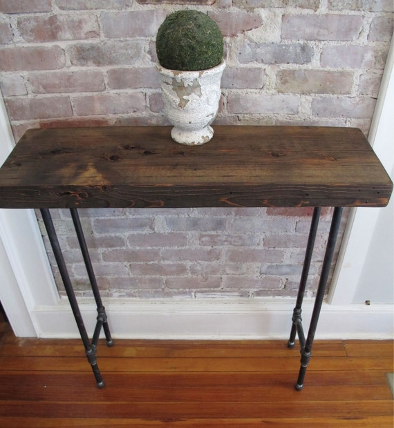 Items Similar To Industrial Console With Iron Pipe Legs