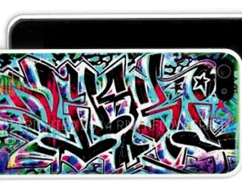 Cell Phone Case with Graffiti Name