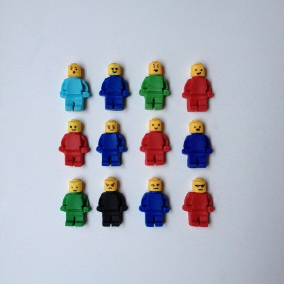 12 mini figures WITH FACIAL EXPRESSIONS inspired by Lego edible ...