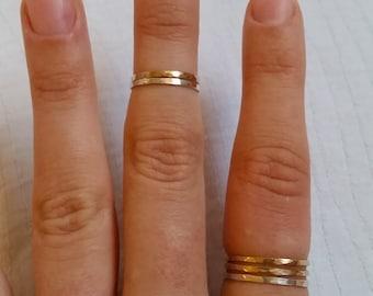 Slightly Adjustable Midi Ring Set, Midi Ring Set, Rose Gold Midi Ring, Midi Ring Gold, Stackable Rings Set, Rose Gold Midi Rings, Midi Ring