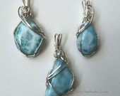 Larimar Gemstone Pendant in Sterling Silver