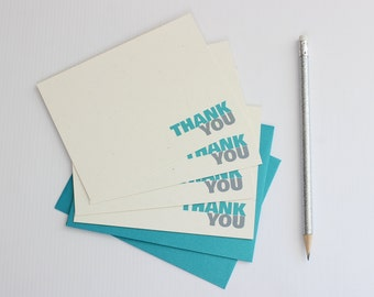Thank You Notecard Set, Thank You Notecards, Thank You Notes, Note Card Set (N-0003)