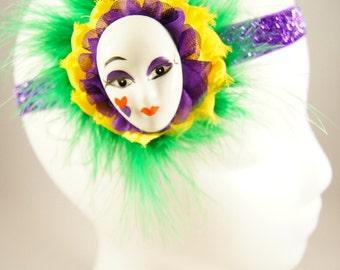 Mardi Gras piece with mask
