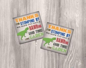 Dinosaur Favor Tags, Dinosaur printable Favor tags, Dinosaur thank you cards, Dinosaur Party Printable Favor tags, dinosaur favor tag