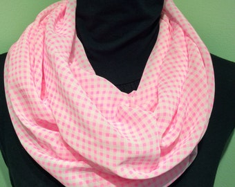 On Sale Pink/White Chiffon Scarf