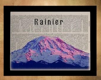 Mt Rainier Dictionary Art Print Seattle Washington Pacific Northwest Pacific Northwest Wall Art Home Decor da617