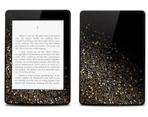 Gold Glitter Black Print - Kindle 2014 / Fire HD 8.9 / 2012 / Fire / Paperwhite / Touch / 4 / Keyboard Decal Skin Cover