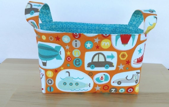 Boy Crazy Medium Fabric Basket Storage Bin