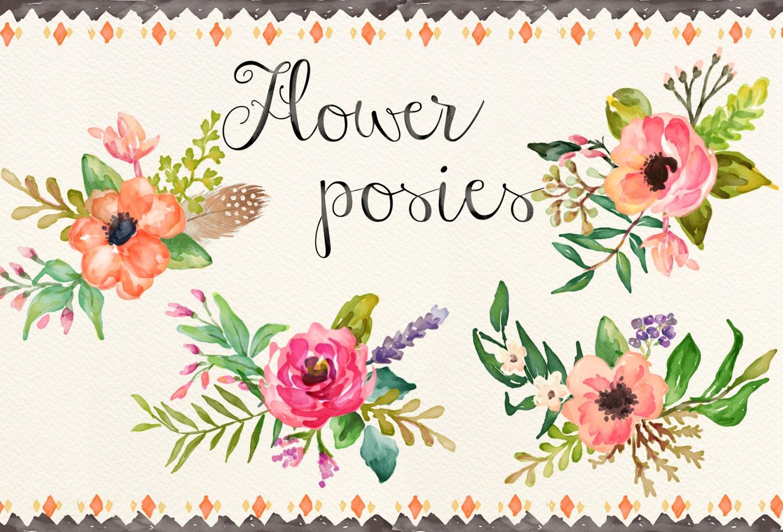 4 Flower posies
