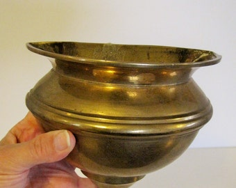Vintage Brass Wall Sconce - Wall Vase