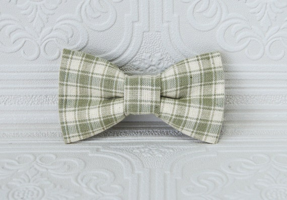 Green Plaid Bow Tie ; St Patricks Day Bow Tie ; Boy Plaid Bow Tie ; Ring Bearer Bow Tie ; Baby Bow Tie ; Green Clip On Bow Tie; TeamEtsyBABY