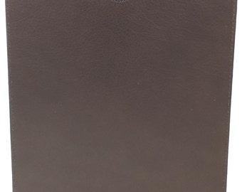 Handmade Italian Premium Leather iPad Sleeve in Brown