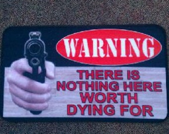 "Fun Gun MAT ""Nothing here worth dying for"""