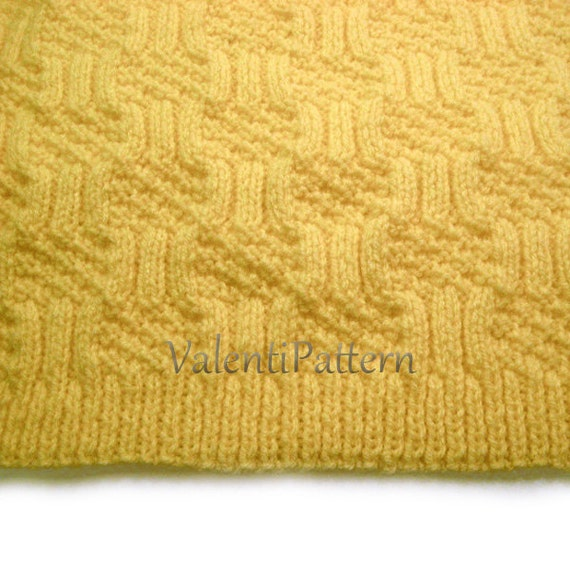 Baby Girl Blanket Knitting Patterns : Baby Blanket Knitting PATTERN Baby boy Baby girl blanket