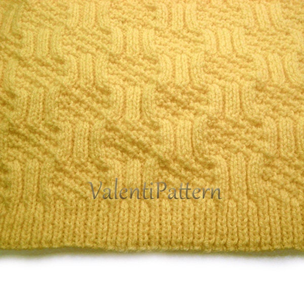 Baby Blanket Knitting PATTERN Baby boy Baby girl blanket
