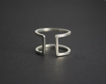 Sterling Silver Ring - Handmade - Funky