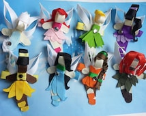 Disney Inspired Tinkerbell and Fairies Ribbon Sculpture Hair Clip(s)