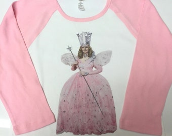 Wizard of Oz Glinda Inspired Raglan Tee
