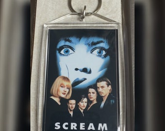 Scream Inspired Keychain