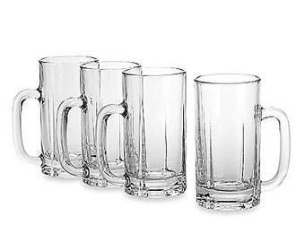Monogrammed Beer Mugs- Set of 4