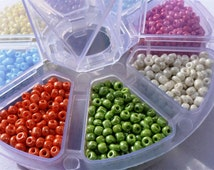 Seed Beads 8/0 (3mm), Various Colours
