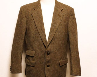 80's vintage DAKS 2 button  tweed sports jacket made in England size eu50