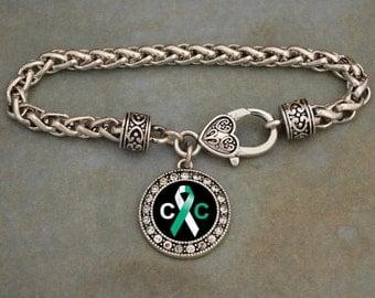 Cervical Cancer Awareness Clasp Bracelet