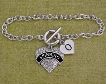 Custom Initial Spinning Bracelet