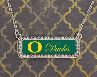 Oregon Ducks Nameplate Necklace