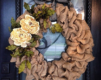Rustic Country Jute Wreath