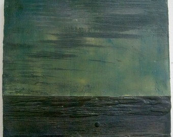 Encaustic Abstract Landscape Painting